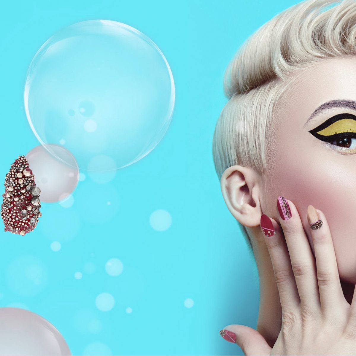Swarovski® Crystalpixie™ Bubble- neue Nailsets