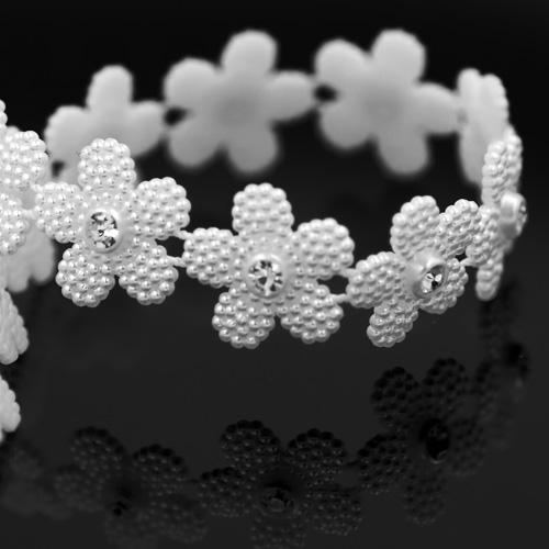 Plastik Perlband Flower